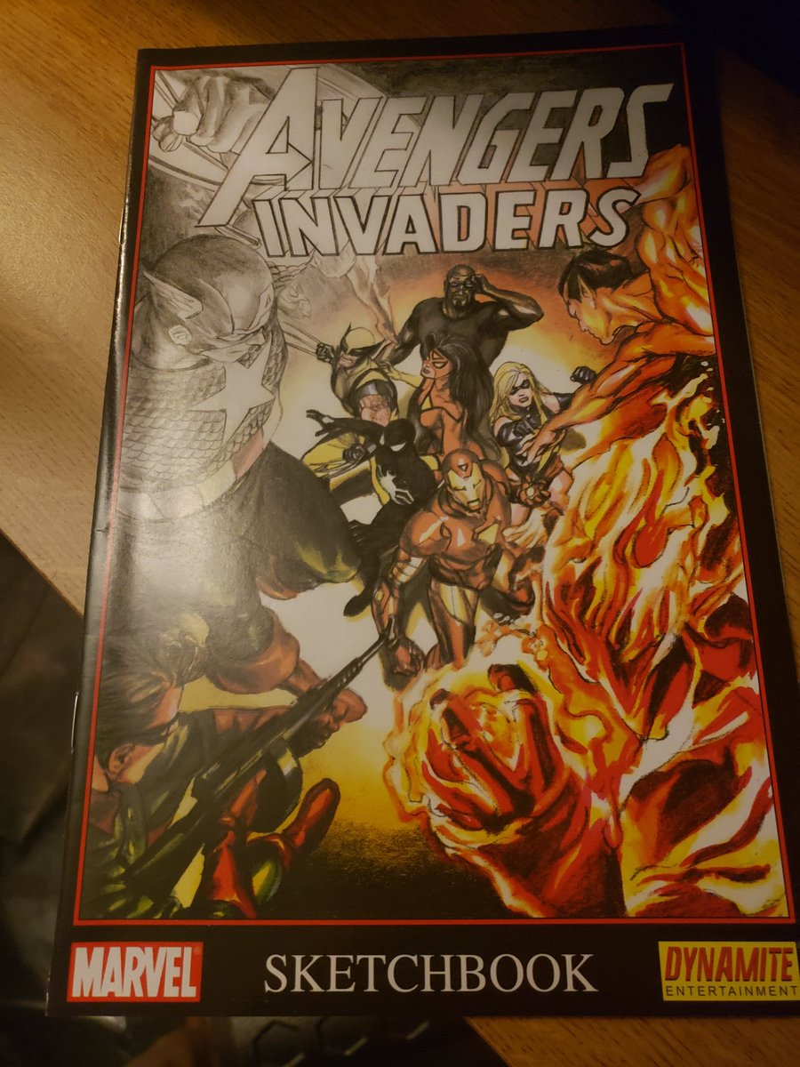 I miss when Marvel used to put these out during events. Very cool seeing the early designs by Alex Ross and seeing the creators commenting on how the book came together #Avengers #invaders https://t.co/IDLSS9dTvm