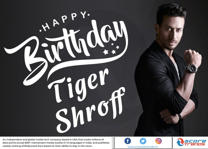 Score Trends wishes Tiger Shroff a Happy Birthday!!