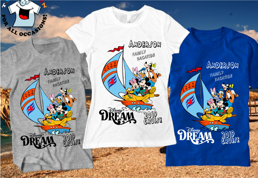 Disney Cruise Fantasy Family Vacation T shirt Personalized tee  Present