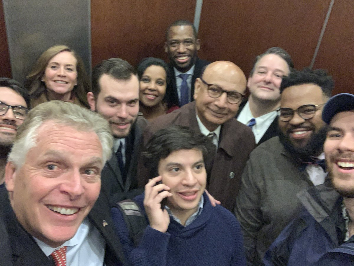 McAuliffe and others trapped in elevator before Biden event in Richmond