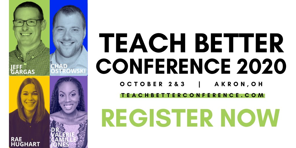 The news is out! This morning we announced the first of 12 speakers joining us at #TeachBetter20! AND there are more to come for the next few months! WHAT?!?! Allow me to fangirl over the amazing @drvcjones!  Now THIS is how you start a Monday!  #TeachBetter19 #TeachBetter
