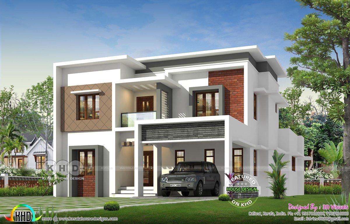Kerala Home On Twitter Modern Flat Roof House Https T Co Mbdmqkqtyu