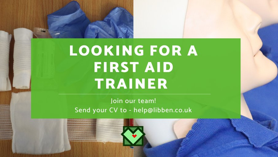 Are you a fully qualified first aid trainer? We are looking for a self-employed trainer in the Bristol area or willing to travel.  If your interested, please send across your CV and availability  to help@libben.co.uk   #firstaidtrainer #libbenlearnpic.twitter.com/ay15jpWqcF