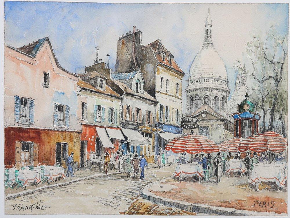Frank-Will Place du Tertre.   Montmartre Paris