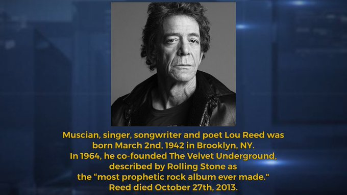 What a perfect day! Happy Birthday Lou Reed!