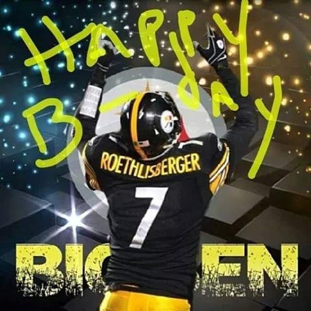 Happy 38th birthday to QB Big Ben Roethlisberger!