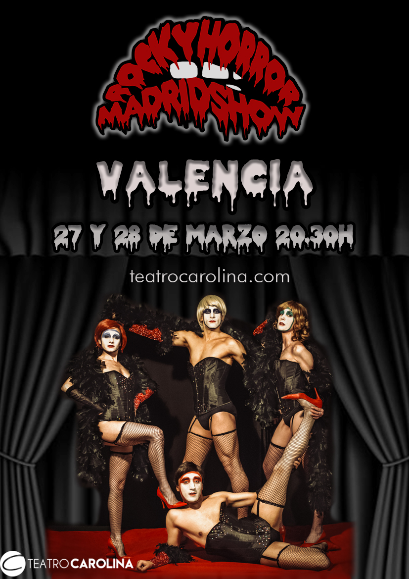 ¡27 y 28 de Marzo en el @teatrocarolina de #Valencia!  ¡¡No te pierdas esta experiencia!!  Entradas en https://www.teatrocarolina.com/rocky-horror-madrid-show/…pic.twitter.com/rGk9ZyicF9