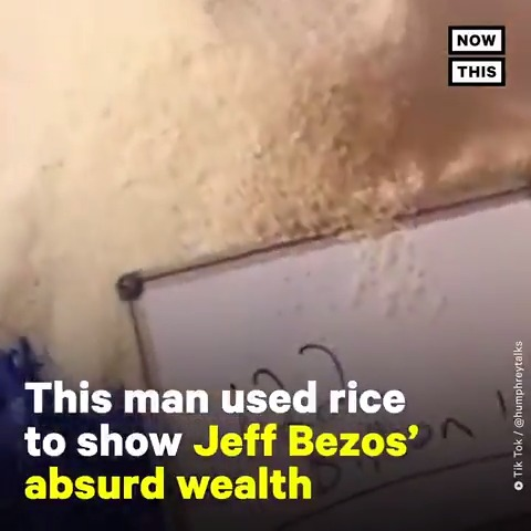 This viral TikTok video reveals just how much Jeff Bezos is worth, using rice for scale 🤯