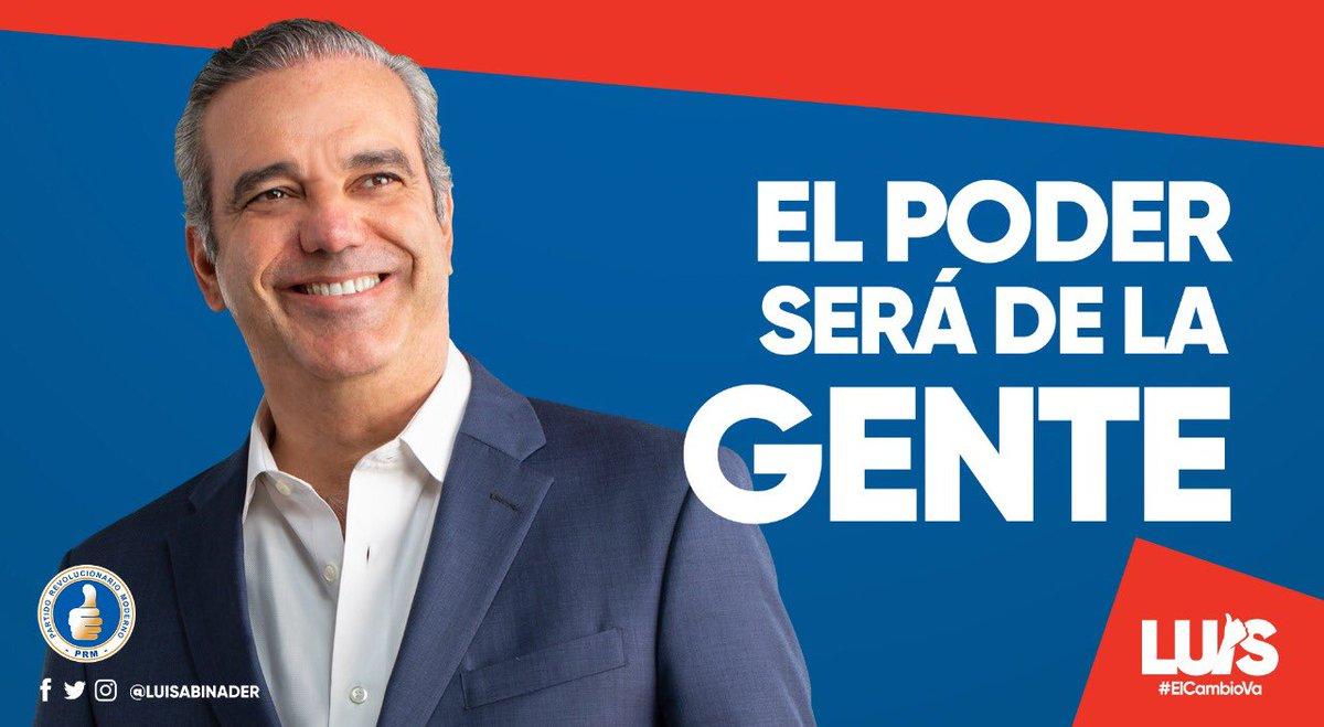 """Uživatel Luis Abinader na Twitteru: """"Los dominicanos queremos ..."""