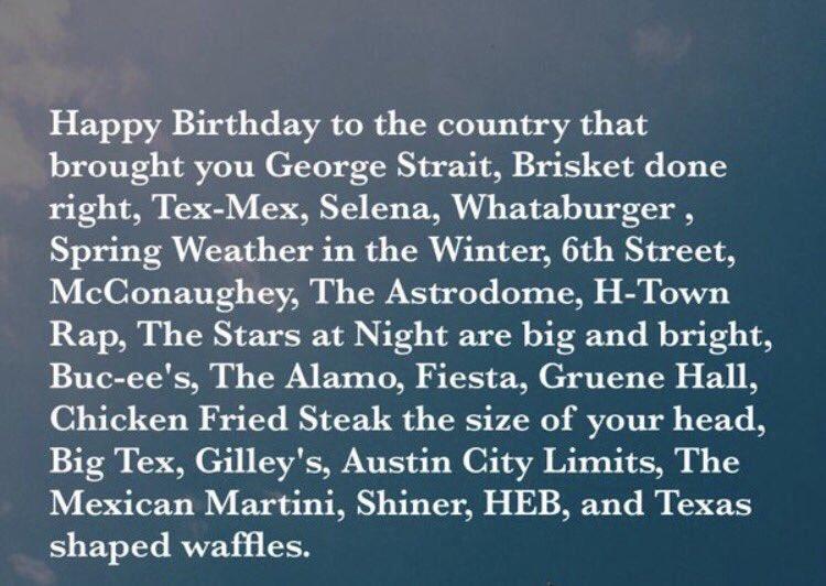 Happy #TexasIndependenceDay y'all 184 looks good on ya Texas