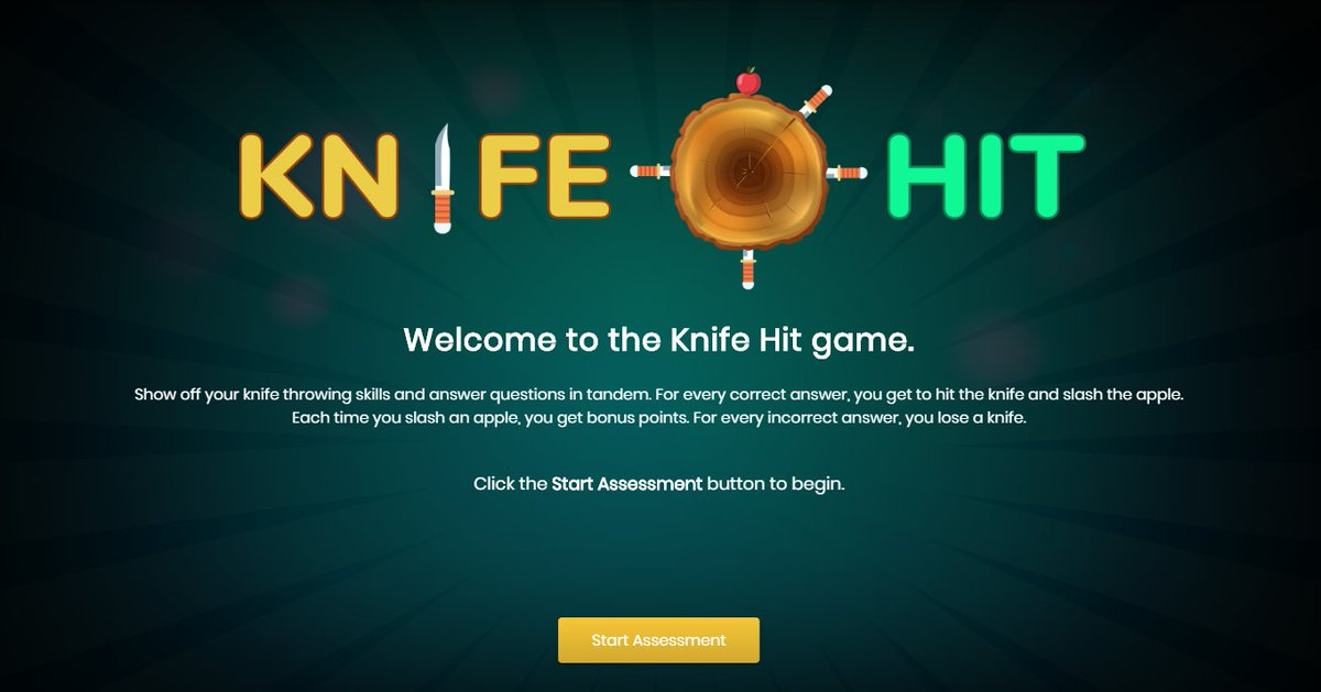 Check out the all-new Knife Hit interaction from Raptivity 2020. Show off your knife-throwing skills and answer questions in tandem. #interactivelearning #eLearning #eLearninginteraction #edtech #interactivequiz http://bit.ly/2TweY2Epic.twitter.com/HlYG1Z5sxL