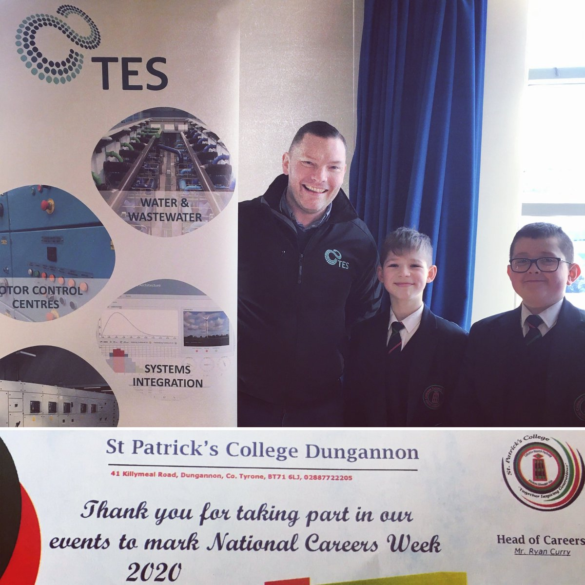 test Twitter Media - As part of National Careers Week TES would like to thank St Patricks College Dungannon for giving us the opportunity to raise awareness about opportunities available for future careers in the Engineering sector. #engineering #futurecareers https://t.co/fbTOMlAnvL