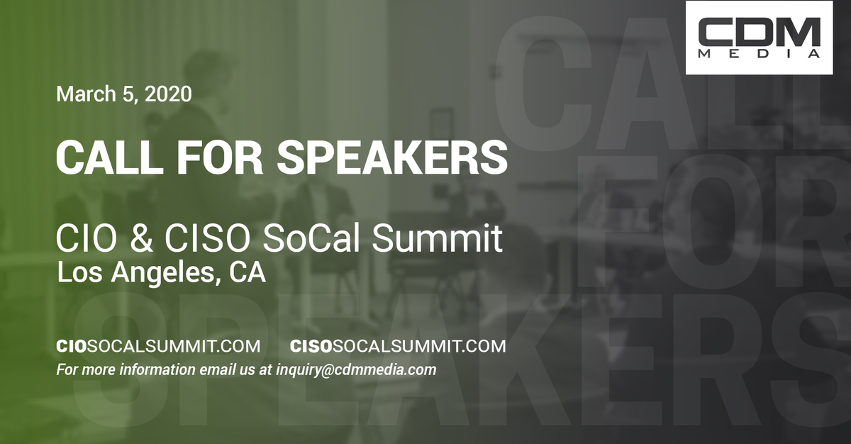 Has your executive IT career given you an edge on the cybersecurity industry? We want your story. Click here to learn more about speaking at this summit and others >> https://t.co/UTvUCw0iVt  #CISO #CallforSpeakers #Cybersecurity #CybersecuritySummit #CIO #CISOSoCal #CIOSoCal https://t.co/sKJY4sHZip