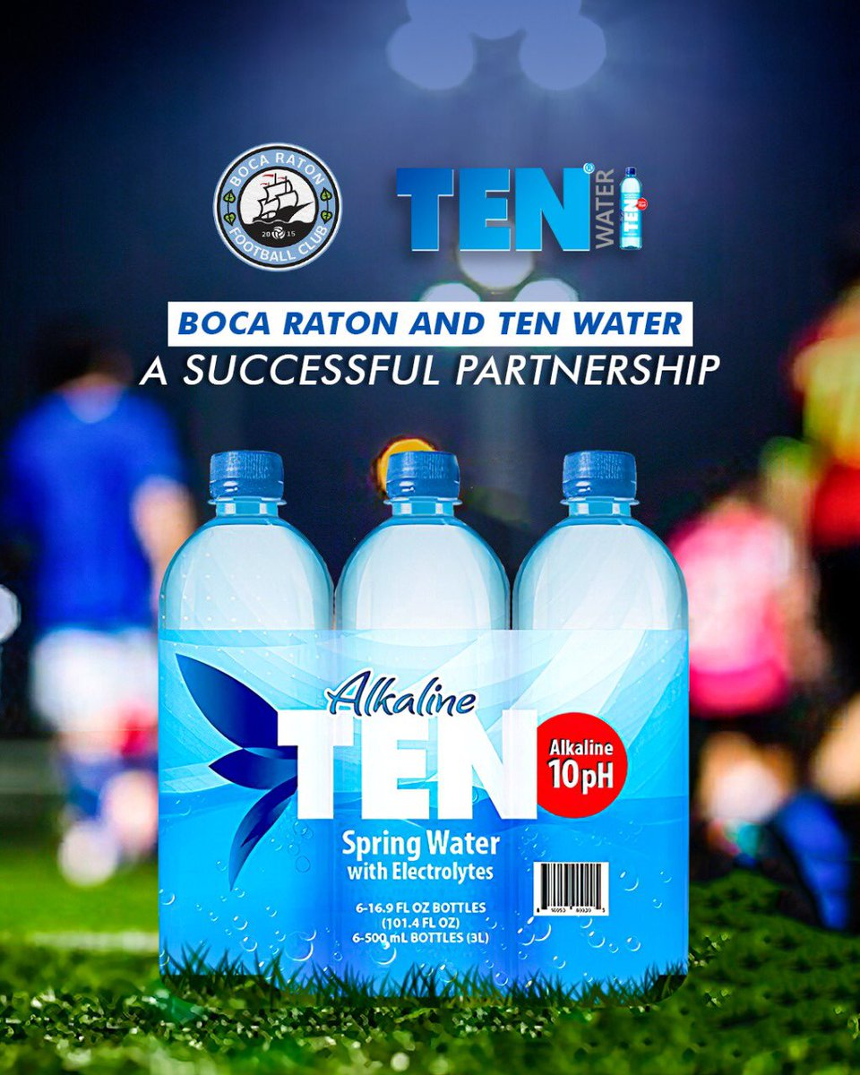 BREAKING: We are delighted to announce that @TENwater has renewed their sponsorship for the 2020/2021 season!   Thank you for continuing to #SupportLocalSoccer!   Full release —> https://t.co/Esq6AViyMj  #localsoccer #partnership #bocaratonfc #tenwater #bocanation https://t.co/sovaF1SEah