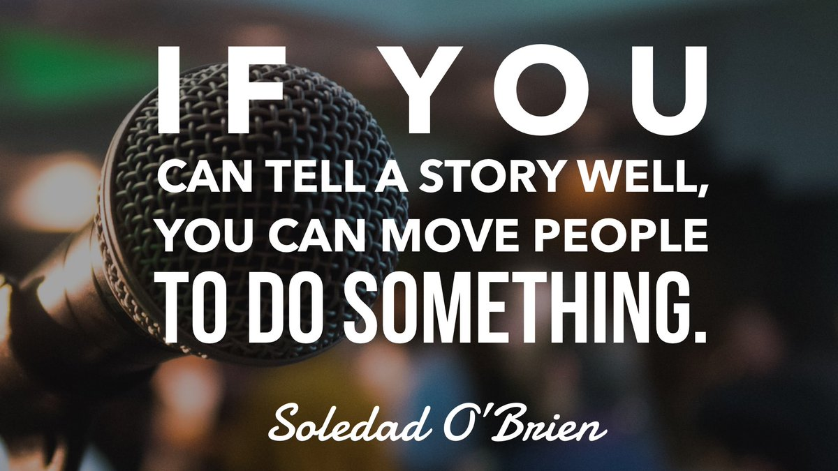 """""""If you can tell a story well, you can move people to do something.""""- @soledadobrien @altsummit #MondayMotivaton https://t.co/9zopn0ebwh"""