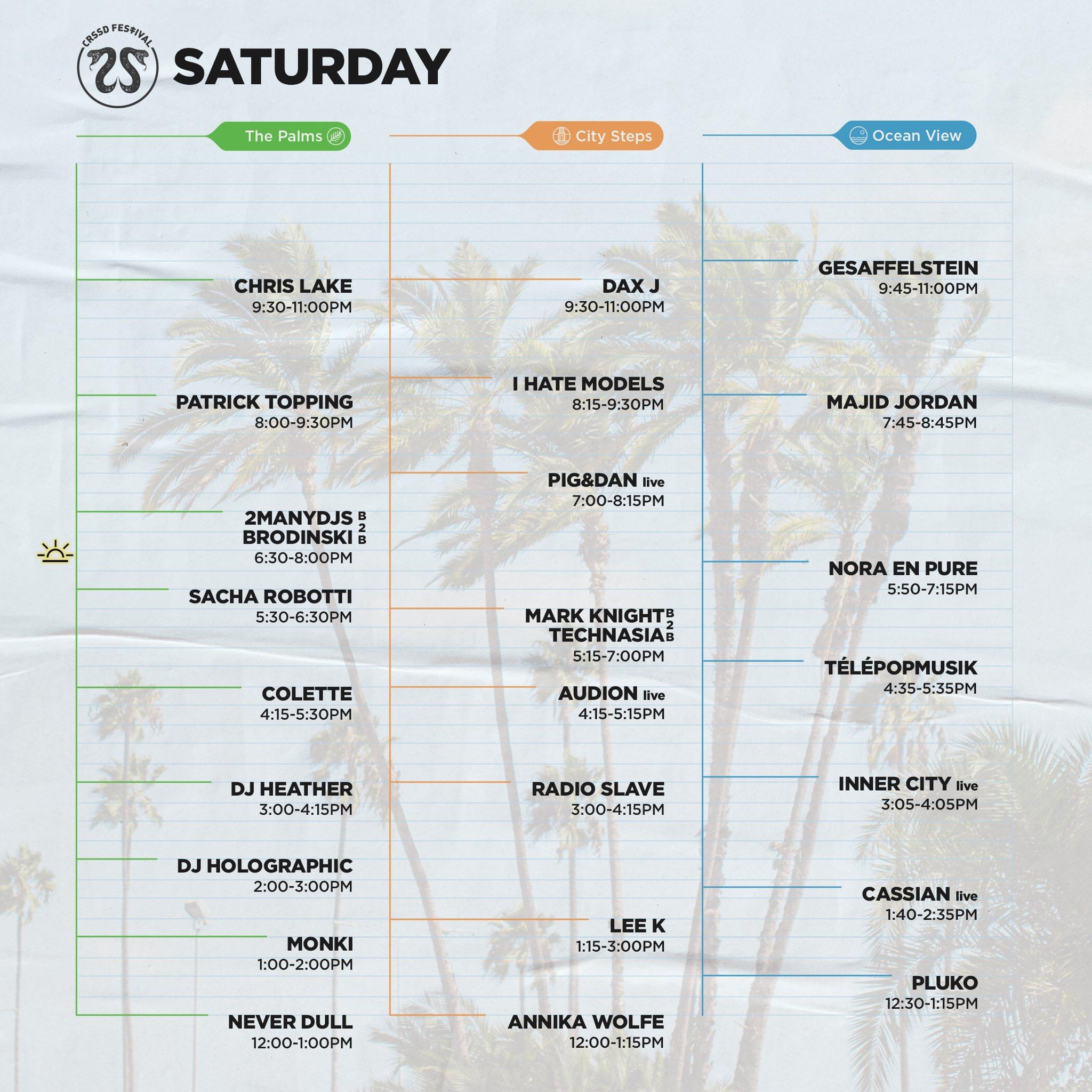 2020 CRSSD Festival schedule