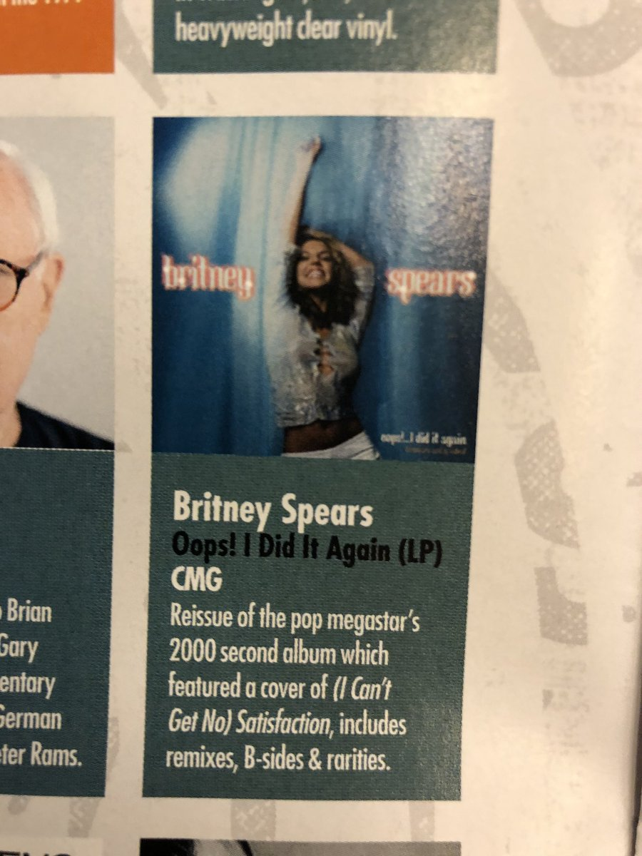 Retropopboy On Twitter Yes Oops I Did It Again By Britney Spears Is Coming Out For Rsd2020