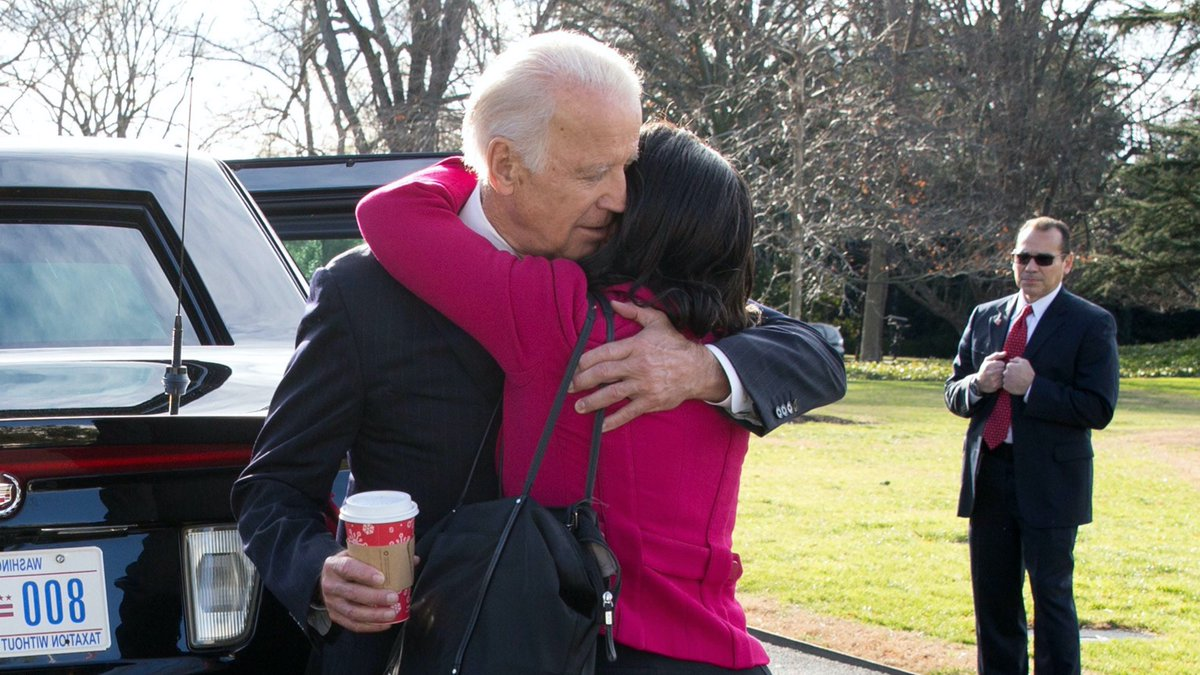 I'm proud to endorse @JoeBiden for President.    Here he is comforting me on 1/4/17 just after my mother passed away.  There is no one kinder, more empathetic and caring than @joebiden.  He will lead America with the same deep compassion and decency.