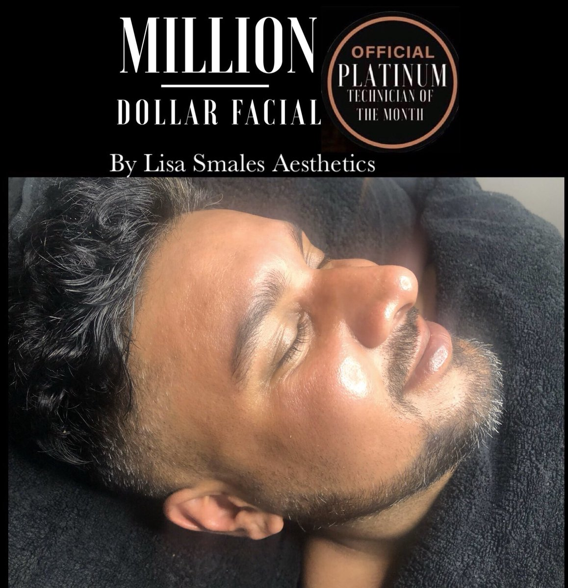 What an absolute pleasure it was to treat this gorgeous human being ! @ik.collections  Luxury Tailoring  Tailoring to the celebrities   Thank you for choosing me to do your Million Dollar Facial   https://ikcollection.co.uk/   Milliondollarfacials #milliondollarfacialpic.twitter.com/3DRA8goH7V