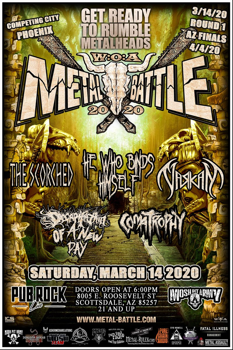 Almost time for battle! We need to see you all out there ready to kick ass! #metal #Arizona @azcentral #arizonamusic #music #azmusic #rock #localmusic https://t.co/otYHVusZK2