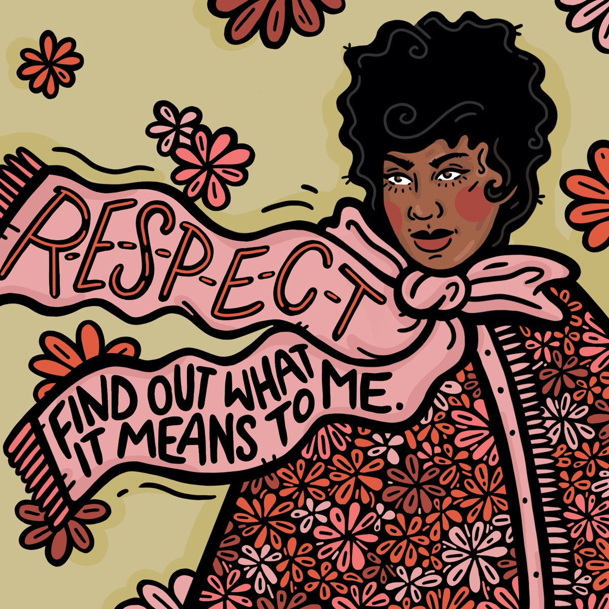 R-E-S-P-E-C-T Find out what it means to me! 👑 #InternationalWomensDay #IWD2020 #EachForEqual Art by: @bykellymalka