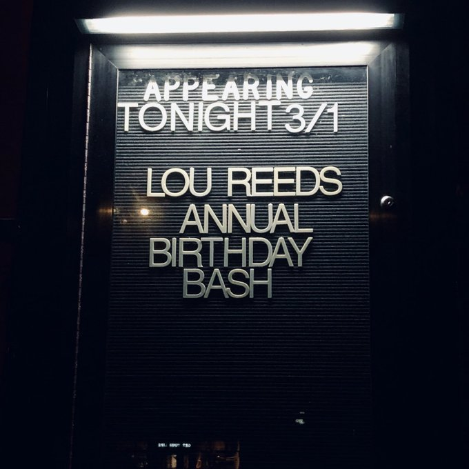 Had a blast rocking last night celebrating the life and music of Lou Reed.  Happy Birthday Lou!