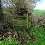 Dangerous stile spotted on Saturday's walk. Reported to PROW.