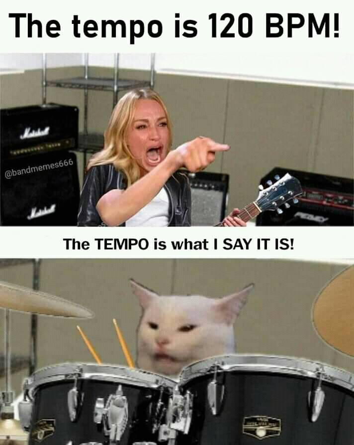 """AmericanMusical on Twitter: """"Meme Credit: BandMemes666 ------------ #Meme # Memes #MusicMeme #MusicianMeme #DankMeme #FunnyMeme #DrumMeme #Drums # Drummer #Drumming #Tempo #Cats #AmericanMusical #AmericanMusicalSupply  @marshallamps @Peavey… https://t.co ..."""