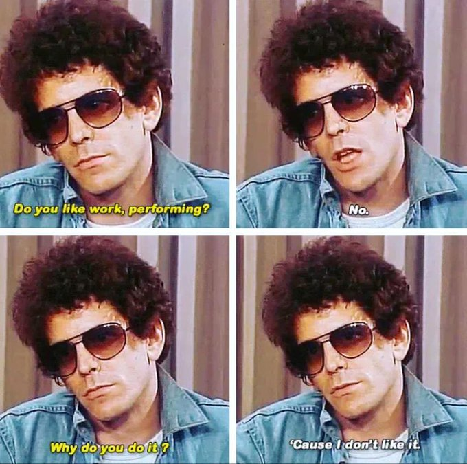 Happy Birthday to the legend Lou Reed.