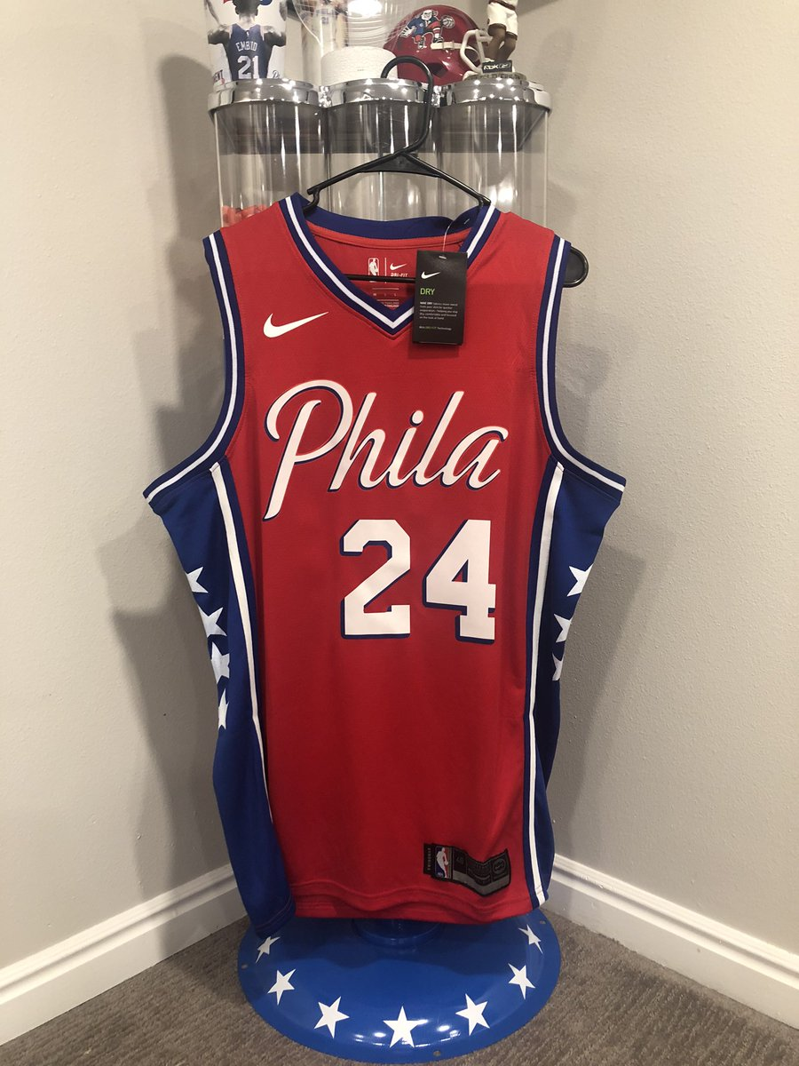 It's only right that this giveaway happen for the Lakers game. My favorite giveaway yet!  Prize:  - Joel Embiid #24 Kobe tribute jersey  All you gotta do:  - Retweet & follow  Winner selected tomorrow night @ halftime. Good luck! Go Sixers!  #MambaForever https://t.co/KeKsQgtYLC