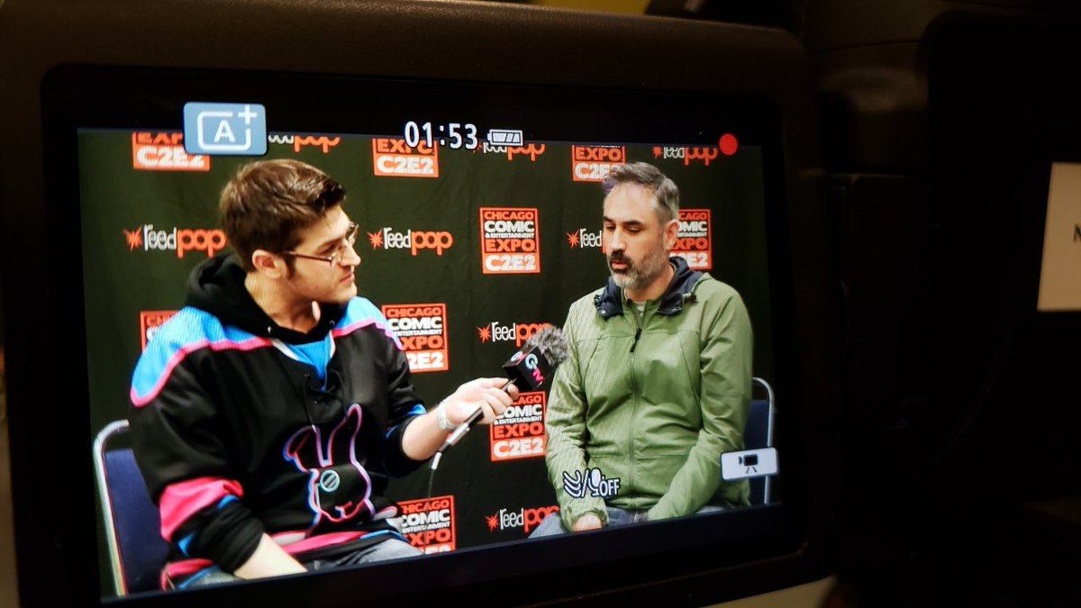 @SemiMadHatter had a chance to interview Alex Garland, writer, producer, and director of @Devs_FXonHulu AND @ExMachinaMovie at @c2e2 this weekend! Tune in to the new episode of @GTweeklyPodcast this Friday to hear more about our time at the event!! https://t.co/sd0o0iI7rw