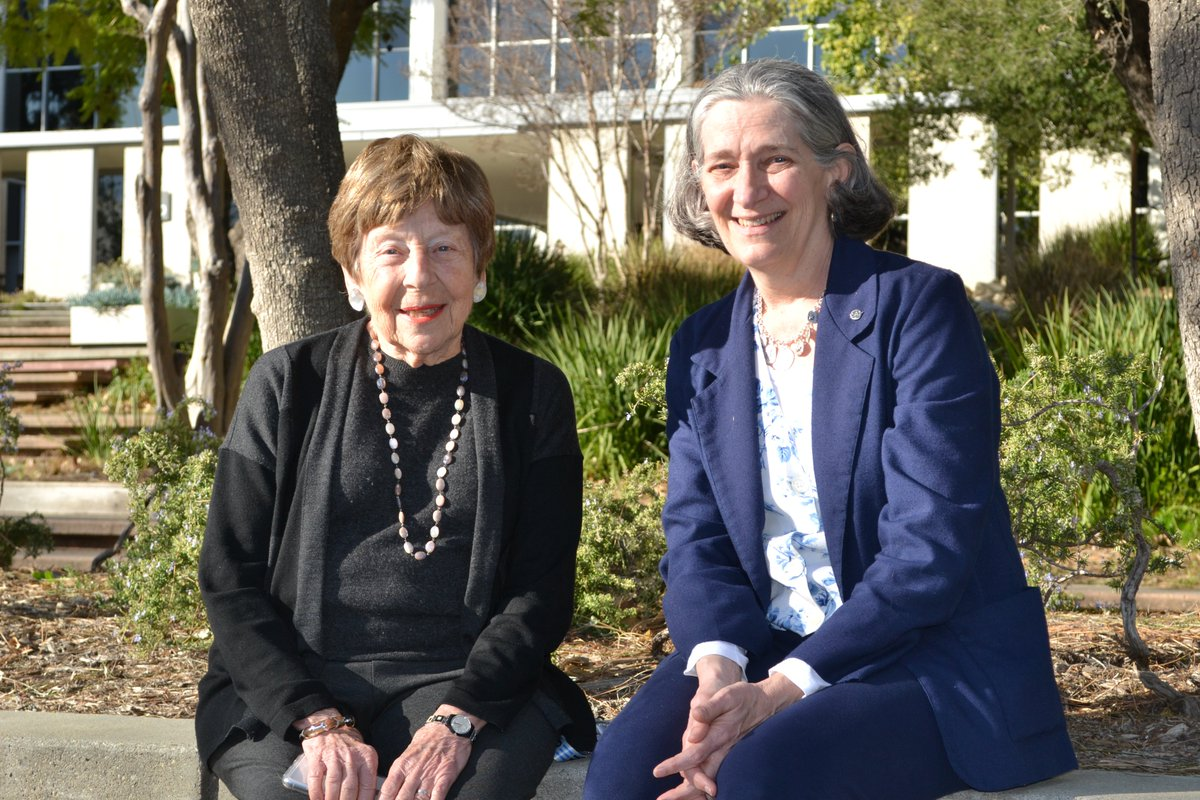 """Dr. Margaret Kivelson (left, @EuropaClipper) on mentoring: """"I have been in the space science field since 1967, and have been a mentor to many women in the profession over the years. Seeing the successes of mentees like Melissa (right) means a lot to me."""" #WomensHistoryMonth https://t.co/MwlpIGTEmQ"""