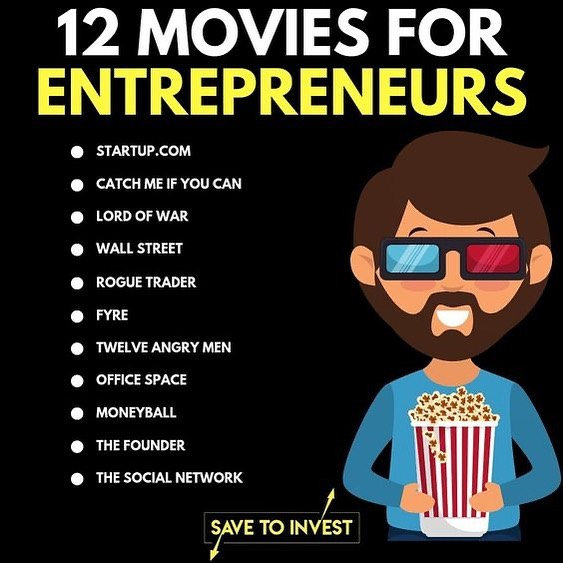 Not a bad list savetoinvest thanks for putting it out.  My fav was Catch Me If You Can.  What is yours? #entrepreneurmovies . . . . . . #speakertrainer #sellingwithstory #storytellingsells #publicspeakingtips #publicspeakingcoach #publicspeakingtips #publicspeakingskills #kepic.twitter.com/yXgCdBILig
