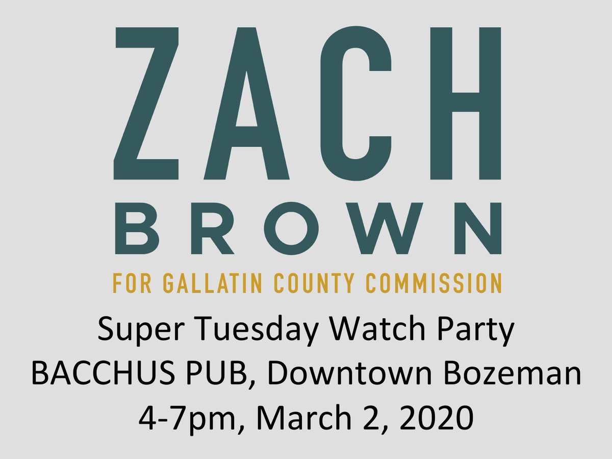 Hey Gallatin County! Join me for a Super Tuesday watch party tomorrow from 4-7pm at the Bacchus! #mtpol #Bozeman #montana #supertuesday2020 #gallatincounty