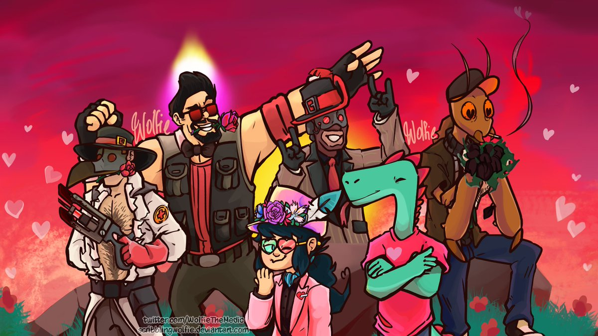 Everyone knows me at this point, of course I'm posting late art for @BeardedExpense's discord server!  All full banners and higher quality on Artstation:  https:// artstation.com/artwork/RYddYE      -  https://www. newgrounds.com/art/view/scrib blingwolfie/tf2-valentine-s-day-bearded-expense-s-plaza-banner   …  -  https://www. deviantart.com/scribblingwolf ie/art/TF2-Bearded-Expense-s-Plaza-Banner-Valentine-s-832461628   …    #ValentinesDay2020َ  #Valentines  #Valentinesday<br>http://pic.twitter.com/bjCGQHoyzo