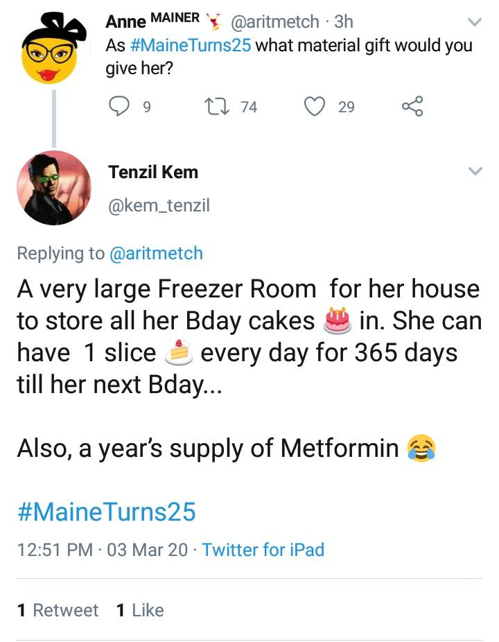 May pagkaselfish ahhh hahahaha cake na lang sasarilinin pa. Cake for 365 days ateh?! 🤣🤣🤣🤣 https://t.co/CWzrdzm5RX