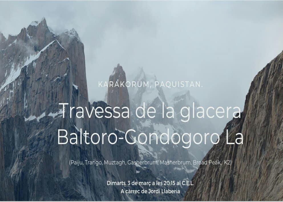 Muntanyistes! Ja toca projecció altre cop: per la glacera del Baltoro i el Gondogoro-La amb el Jordi Llaberia. Avui DIMARTS, 3-MARÇ a les 20:15' Us hi esperem! #projeccionsJordiGuivernau #cel #centreexcursionistadelleida #baltoro #karakoram