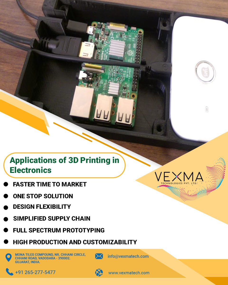 With a complete set of value added services we have gathered vast experience in the field of mechatronics, case studies of which can be seen on our website. #3dprinting #electronics #electronicsapplication #engineering #electronicsengineering #additive #manufacturing #vexmatech