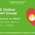 Image for the Tweet beginning: Our ARVC Online Support Group