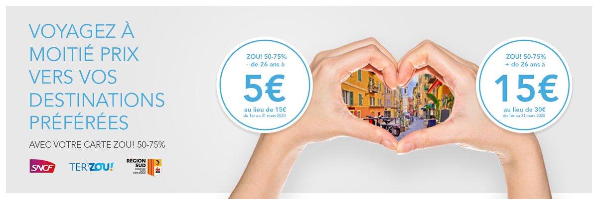 Sncf Ter Sud Provence Alpes Cote D Azur On Twitter Bonsplanstersud Terriens Super Promo Sur Les Cartes Zou 50 75 Du 01 03 Au 31 03 15 An Au Lieu De 30
