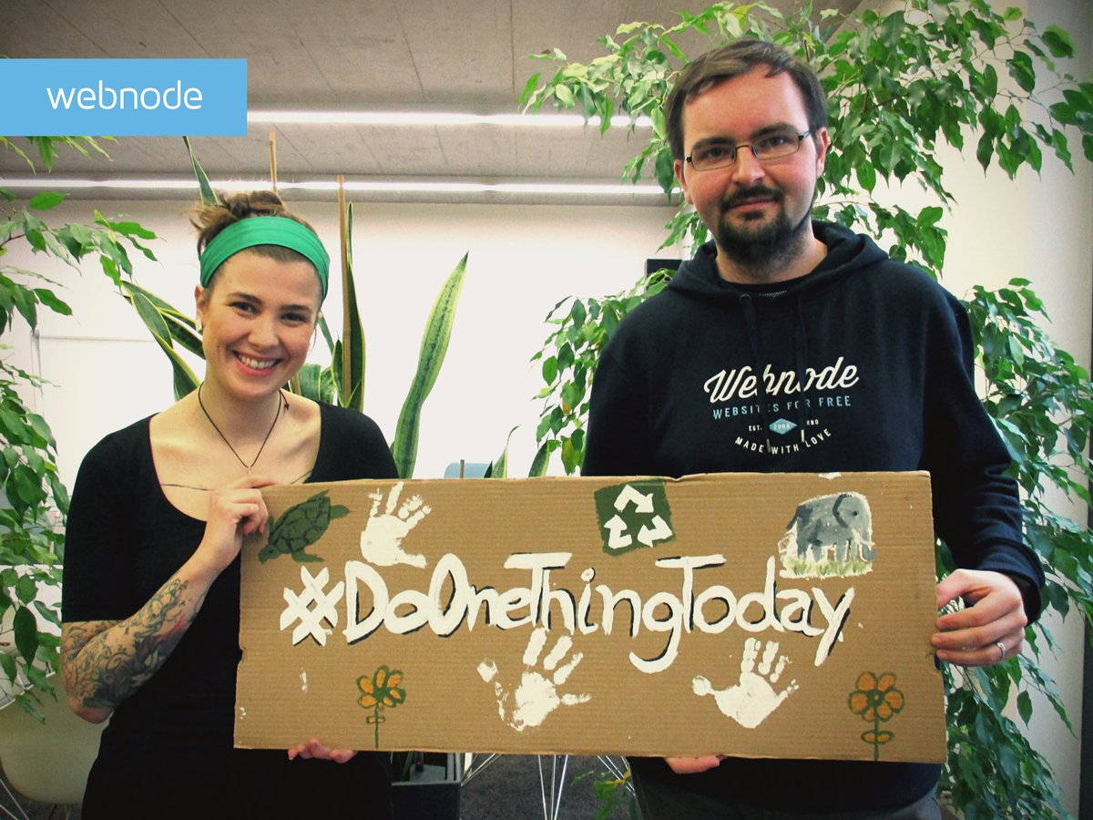 Roman and Marcela are our #RecyclingHeroes, responsible for the Eco Window of Webnode. We make, on average, 105L. of bio waste per week. ♻️ We are really engaged in protecting our world. Together, we can make the difference! 🐘🐢🐬 #WorldWildlifeDay #WWD2020 https://t.co/dUgTwFTQfQ