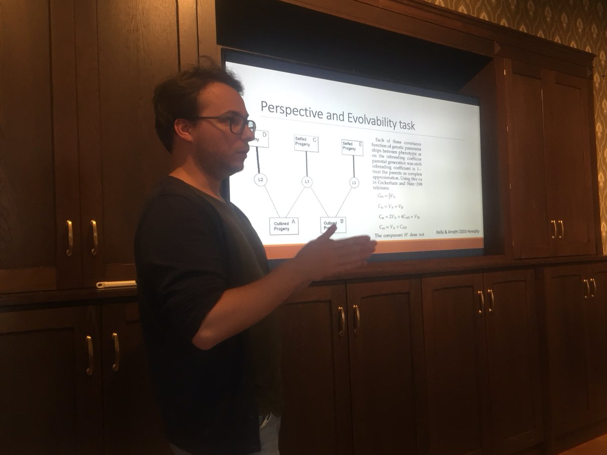 """Today @CloJosselin gave a great talk with the title """"#Evolvability of predominantly selfing species: on the importance of residual allogamy, additivity and dominance"""" @CASOslo!"""