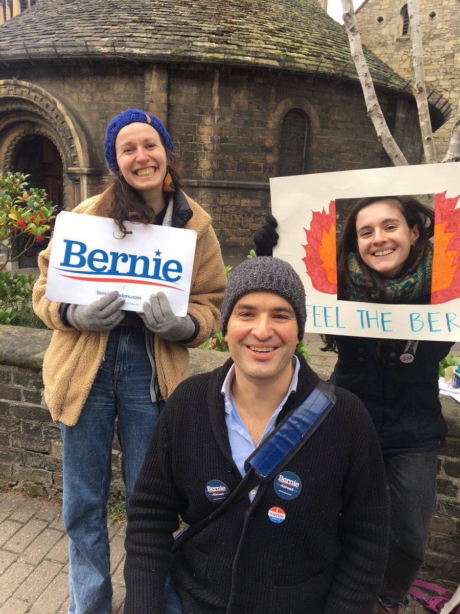 Voting with the Bernie Bro's in Cambridge. #Democratsabroad