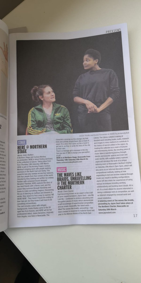 We got a write up in @narc_magazine for #HEREplay! 🤩 Photo is a #throwback to R&D for the show in April 2019