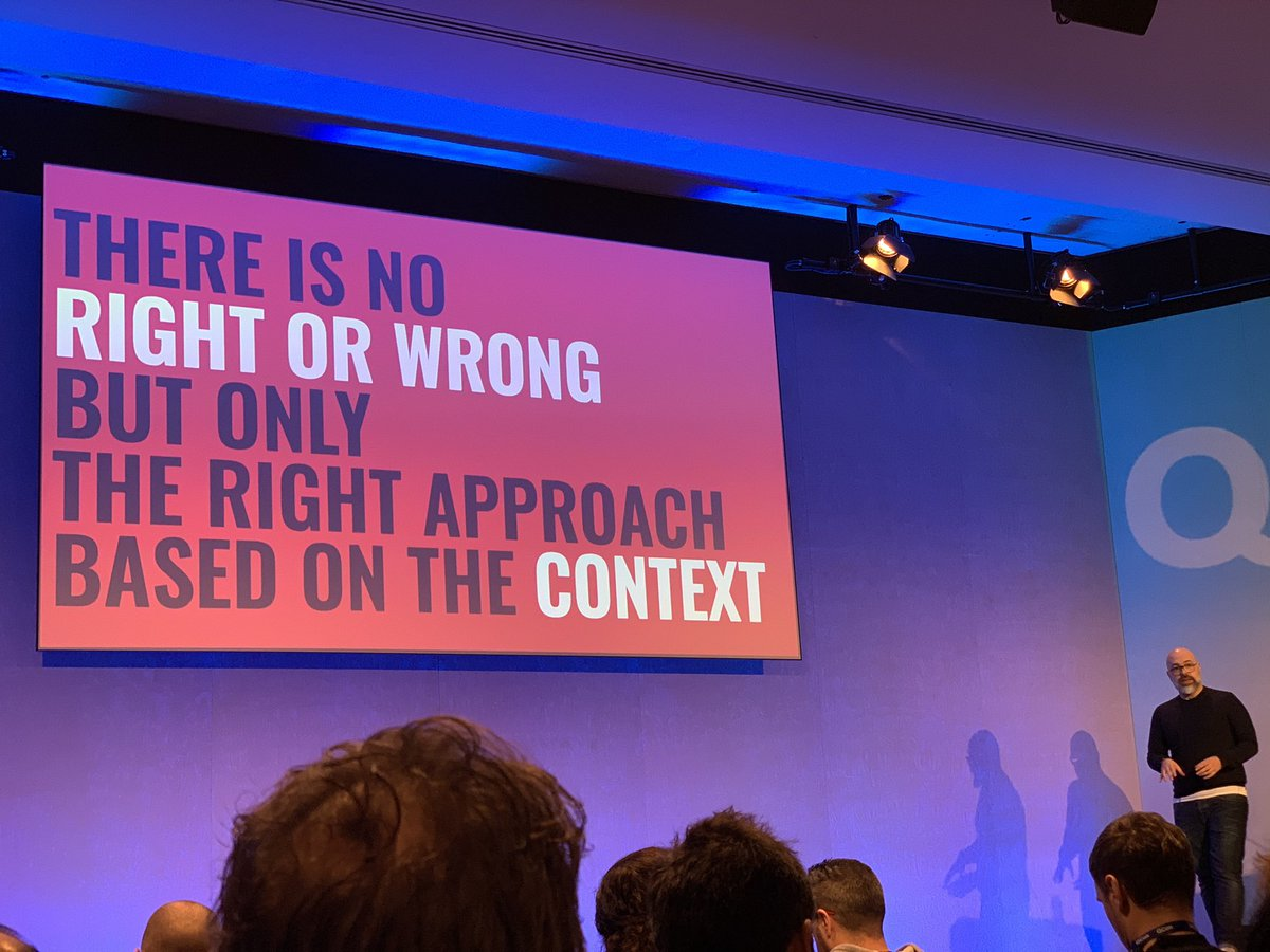 Choose right approach based on the context #QConLondon #Microfrontends