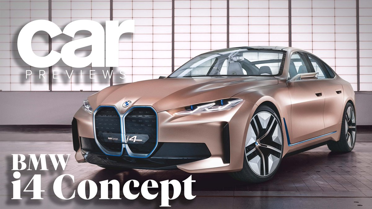 Image for the Tweet beginning: All-electric BMW i4 concept car