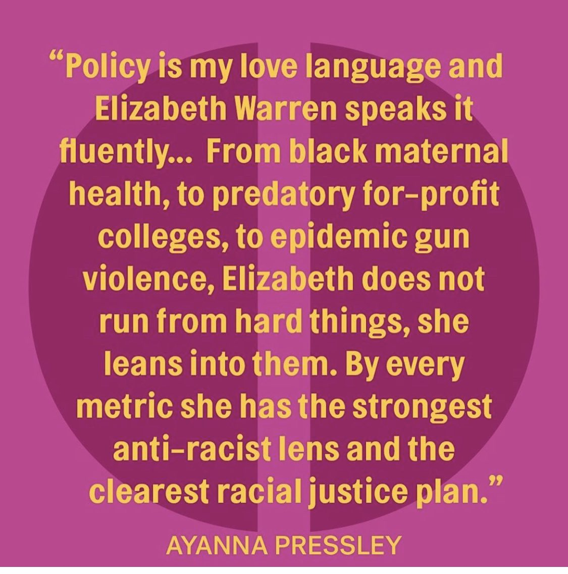 Policy is my love language 💜 #ChooseWarren