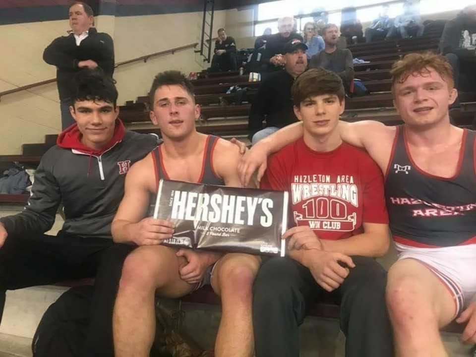 Heading to Hershey! Congratulations and good luck to these Cougars wrestlers who will compete at states. #HASDProud