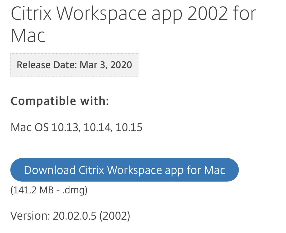 Latest Citrix Workspace