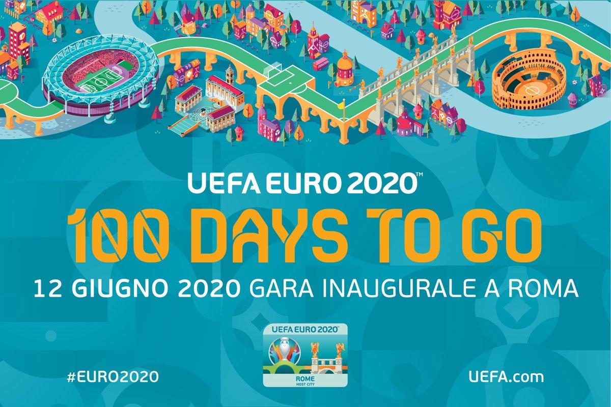 -100 GIORNI A UEFA @EURO2020! 💯 In piazza del Campidoglio 15 magliette speciali per ripercorrere le 15 edizioni dell'Europeo. Alle 12 interverranno lAssessore @danielefrongia e #GianniRivera per il countdown alla gara del 12 giugno! #EURO2020 #RomaEuro2020 @Vivo_Azzurro @FIGC
